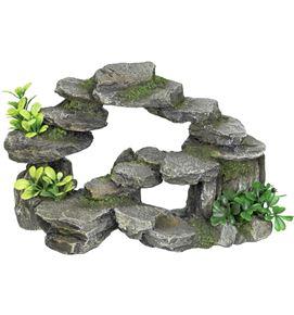 Decoracion roca con plantas 28301
