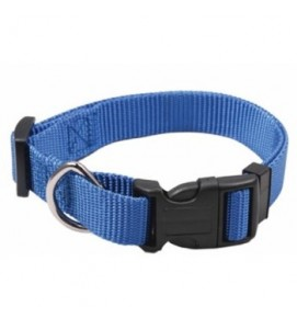 collar nylon azul